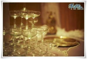 Decoración mesa auxiliar Dorados Años 20
